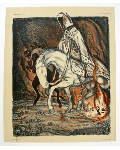 Jan Sluijters, Politieke voorstelling Eerste Wereldoorlog, litho, 1915