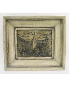 Charles Eyck, 'Boschstraat, Maastricht, in de regen'