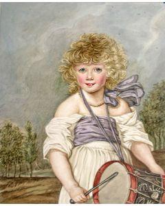 Marie Elisabeth Dutilh, 'vrouwelijke tamboer', aquarel, ca. 1800