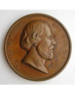 Erepenning voor Menschlievend Hulpbetoon in brons [1855]