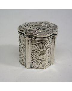 Zilveren lodereindoosje, Cornelis Milborn, Middelburg 1802