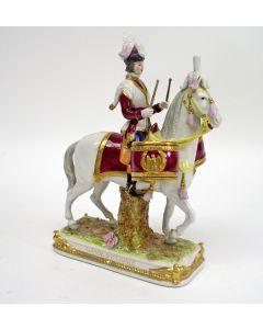 Porseleinen figuur, 'Garde Imperiale', Capodimonte