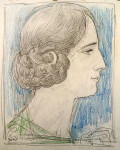Willem van Konijnenburg, Portret van een jonge vrouw, pasteltekening