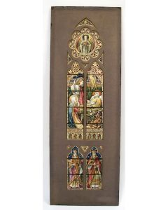 Ontwerp van een glas-in-loodvenster voor de kerk van Gassel (N.B), door Gerrit van Geffen, 1919