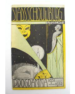 Programmaboekje Stadschouwburg Utrecht 1931-1932. Omslag door Cris Agterberg.