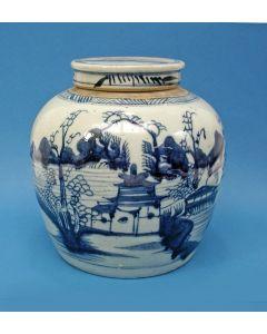 Chinese porseleinen gemberpot, 19e eeuw