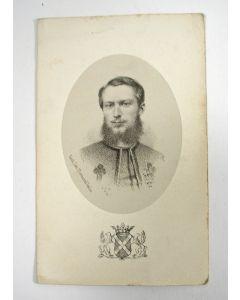 Bidprentje van de pauselijk zouaaf  Walérand Baron d'Erp de Holt de Baerlo, gesneuveld in de Slag van Mentana,1867