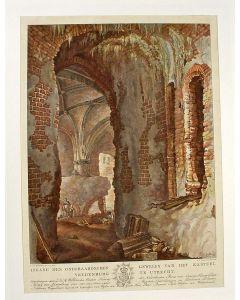 'Ingang des onderaardschen gewelfs van het Kasteel Vredenburg, te Utrecht', ets/aquatint, 1817