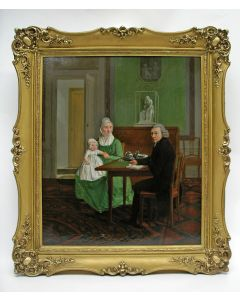 Willem Uppink, familieportret, olieverf, 1798