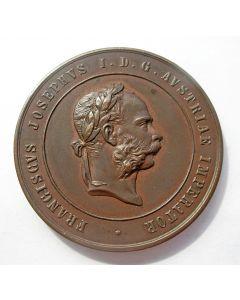 [Ooostenrijk] Penning Staatsprijs voor Economische Verdienste , in Tsjechische taal, 19e eeuw
