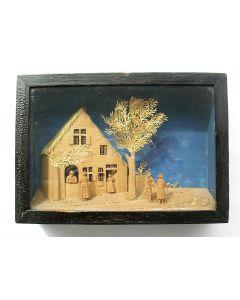 Bavelaartje, personen bij een woning, ca. 1810