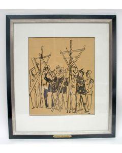 Daan Wildschut, Koningsschieten van de Maastrichts Stadsschutterij, inkttekening
