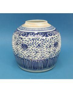 Chinese porseleinen gemberpot, 18e/19e eeuw