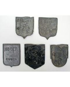 Vijf trotseerloodjes, Oost-Nederland, 19e en 20e eeuw