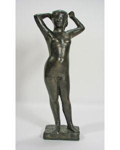 Bronzen sculptuur, 'Staand naakt'.