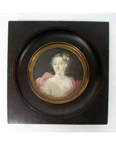 Portretminiatuur, Jonkvrouwe Constance van der Capellen, ca. 1785