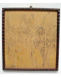 Cris Agterberg, Bal Masqué in Tivoli, Utrecht, 1922, tekening