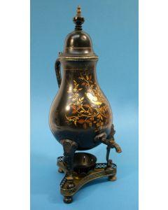 Gelakte tinnen kraantjeskan, 19e eeuw