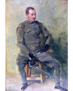 Leo Nardus, zelfportret als schermer, 1914
