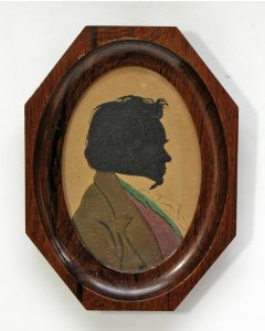 Silhouetportret van Ludwig van Beethoven, ca. 1900. (Ex collectie Robert Stolz).