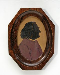 Silhouetportret van Frans Liszt, ca. 1900. (Ex collectie Robert Stolz).
