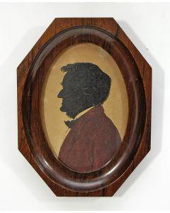 Silhouetportret van Richard Wagner, ca. 1900. (Ex collectie Robert Stolz).