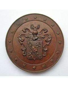 Penning, benoeming P.J. Van Dijk van Matenesse tot burgemeester van Schiedam, 1866