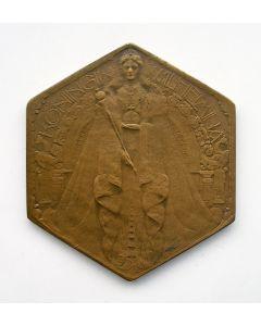 Penning Regeringsjubileum Koningin Wilhelmina voor de Nederlands-Indische markt, 1923 [Chris van der Hoef]