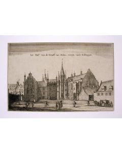 Utrecht, 'Het hoff van de graeff van Solms, eertijts van de bisschoppen', kopergravure, ca. 1698.