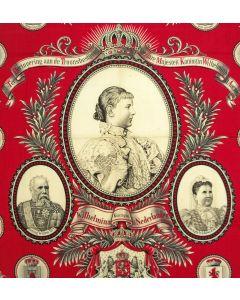 Herdenkingsdoek, Inhuldiging Koningin Wilhelmina, 1898