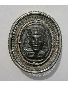 Egyptisch amulet in zilveren montuur, Grand Tour souvenir