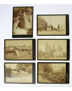 Serie kabinetfoto's van Maastricht, ca. 1885