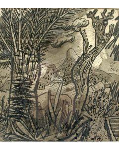 Charles Eyck, 'El Palo', inkttekening, ca. 1960