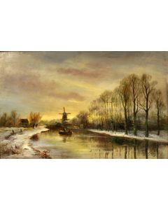 A.J. van Prooijen, Hollands landschap, 19e eeuw