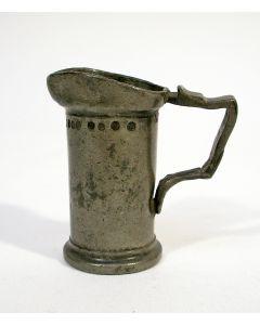 Tinnen maatje, 2 centiliter, 1872