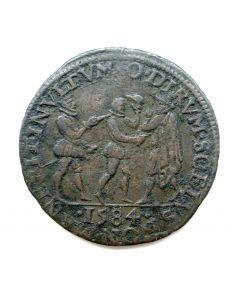 Rekenpenning Dordrecht 1584, Moord van Willem van Oranje