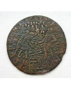 Rekenpenning op de onlusten in Utrecht 1612