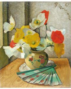 Raoul Martinez, bloemstilleven, 1937