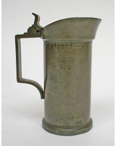 Tinnen dekselmaat, halve liter, Eindhoven 1898