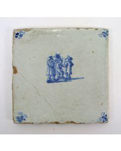 Kinderspelentegel, Driekoningen, 18e eeuw