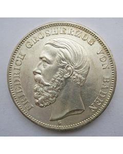 Duitsland, Baden, 5 mark 1901, Friedrich I (Unc)