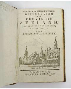 Pieter Nicolaas Muijt, Geschied- en aardrijkskundige beschrijving der provincie Zeeland, ten gebruike der scholen, met een kaartje (Zaltbommel 1821)
