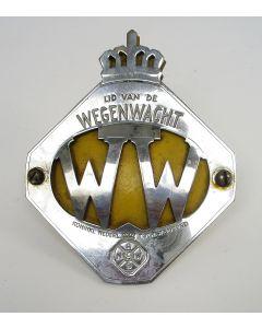 ANWB Wegenwacht autoschildje, ca. 1950
