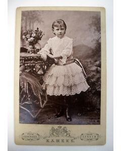 Kabinetfoto, Wilhelmina, ca. 1890