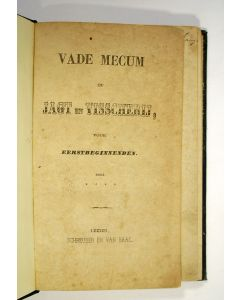 [E. van Olden] Vademecum op jagt en visscherij voor eerstbeginnenden, 1859