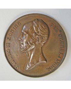 Penning , Inwijding van de Koninklijke Academie ter opleiding van Burgerlingen en Kweek voor den Handel, Delft 1843