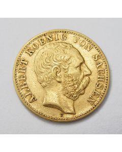 Duitsland (Sachsen), 10 mark 1875