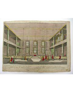 De Vergaderplaats der Broedergemeente te Zeistt, opticaprent, 18e eeuw