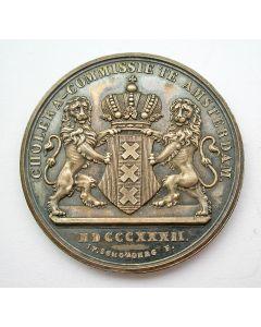 Beloningspenning van de Amsterdamse Cholera-Commissie, 1832