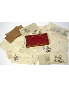 Album Amicorum van Catharina (Cato) van der Voort, Eindhoven, met bijdragen van leden van de familie Alberdingk Thijm en vooraanstaande Brabantse families, periode 1837-1847.